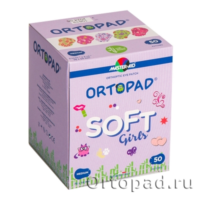 Глазные окклюдеры и пластыри Ortopad Girls Soft (New)